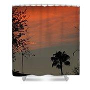 Orange Skies Shower Curtain