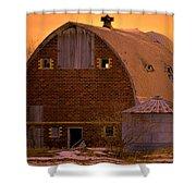 Orange Sky Barn Shower Curtain