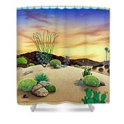 Orange Sky Sunset Shower Curtain