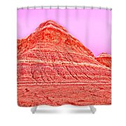 Orange Slice Mountain Shower Curtain