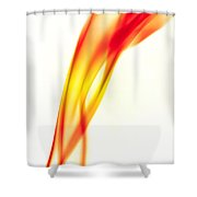 Orange Smoke Abstract On A White Background Shower Curtain
