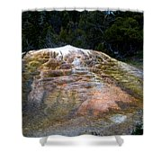 Orange Spring Mound #2 Shower Curtain