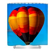 Orange Stipped Hot Air Balloon Shower Curtain