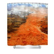 Orange Stones Shower Curtain