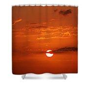 Orange Sun Shower Curtain