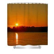 Orange Sunrise Over Dc Shower Curtain