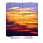 Orange Sunset Sky Shower Curtain
