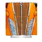 Orange Terraplane Shower Curtain