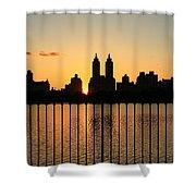Orange Tint Shower Curtain