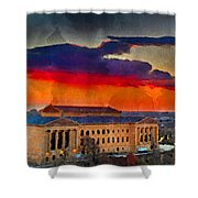 Orange Upon The Art Museum Shower Curtain