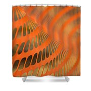 Orange Wave Shower Curtain