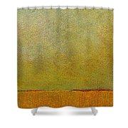 Orange With Red And Gold Shower Curtain