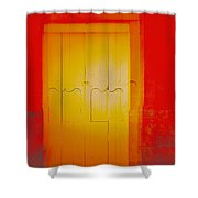 Orangeness Shower Curtain
