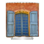Oranges And Blues Shower Curtain