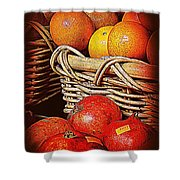 Oranges And Persimmons Shower Curtain