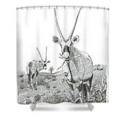 White Sands Orax  Shower Curtain