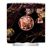Orbs Of Infinity Shower Curtain