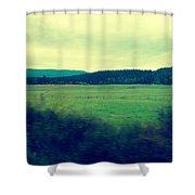 Orcas Greenery  Shower Curtain