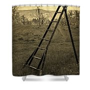 Orchard Ladder Shower Curtain