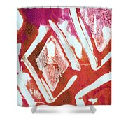 Orchid Diamonds- Abstract Painting Shower Curtain by Linda Woods