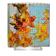 Orchid Drapes Shower Curtain