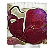 Orchid Facing Up Shower Curtain