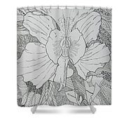 Orchid In Disguise Shower Curtain