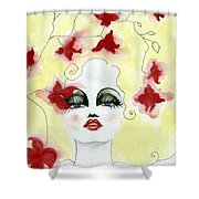 Orchid Lady Shower Curtain