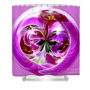 Orchid Orb I Shower Curtain