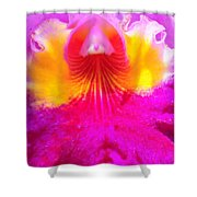 Orchid Ruffles Shower Curtain