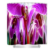 Orchid Splat Shower Curtain