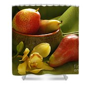 Orchid With Pears Shower Curtain