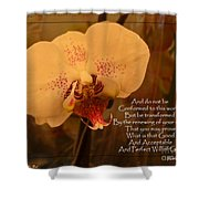 Orchid With Verse Shower Curtain