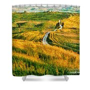 Orcia Valley Shower Curtain