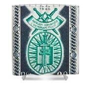 Order Of The 20th Anniversary Release 17 November 1940 To 1960 Patriam Servando Victoriam Tulit Shower Curtain