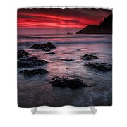 Oregon Afterglow Shower Curtain