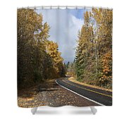 Oregon Autumn Highway Shower Curtain
