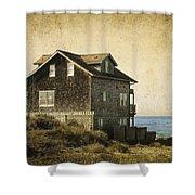 Oregon Coast Beach House Shower Curtain