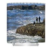 Oregon Coast Fishermen Shower Curtain