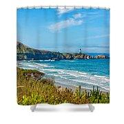 Oregon Coast Lighthouse Shower Curtain