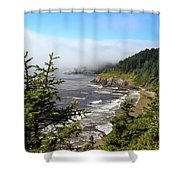 Oregon Coastline Shower Curtain