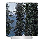 Oregon Crater Lake Panoramic Shower Curtain