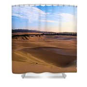 Oregon Dunes Landscape Shower Curtain