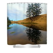 Oregon Dunes Pond Shower Curtain