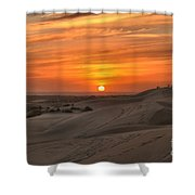 Oregon Dunes Sunset Shower Curtain