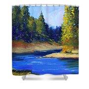 Oregon River Landscape Shower Curtain