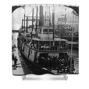 Oregon Steamboat, C1906 Shower Curtain