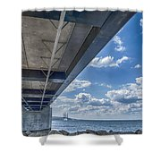 Oresundsbron Hdr Shower Curtain