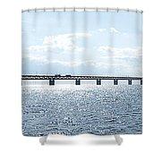 Oresundsbron Panorama 01 Shower Curtain