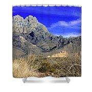 Organ Mountain Frosty Top Shower Curtain
